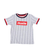 Sizes 2T-4T - Toddler - Pinstripe Ringer T-Shirt W/ Hustle Box Logo (2T-4T)-2467082
