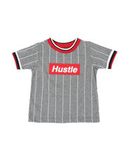 Sizes 2T-4T - Toddler - Pinstripe Ringer T-Shirt W/ Hustle Box Logo (2T-4T)-2467092