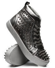 AURELIO GARCIA - Metallic Studded Sneakers-2467263