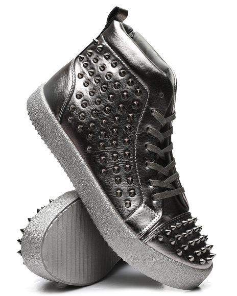 AURELIO GARCIA - Metallic Studded Sneakers