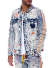 SMOKE RISE - Neon Stripe Denim Jacket-2467919
