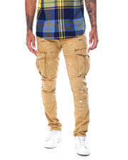 SMOKE RISE - Slim Distressed Cargo Pant-2467997