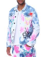 Kloud 9 - Graffiti Tie Dye Jacket-2468066