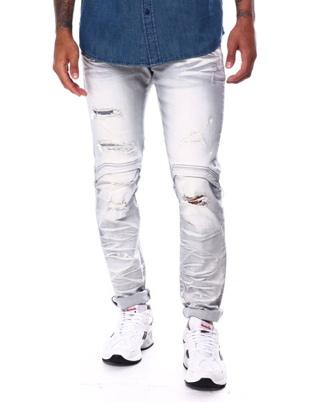 SMOKE RISE - Slim worn Out Articulated Jean