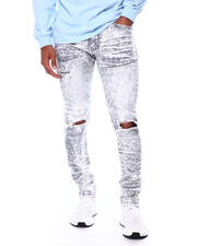 SMOKE RISE - Slim Tapered Ripped Knee Jean-2468191