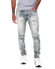 SMOKE RISE - Slim Ripped Knee Moto Jean-2468197
