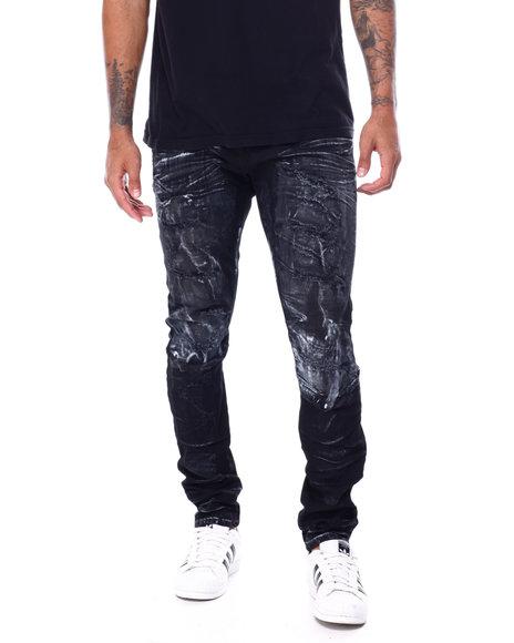 SMOKE RISE - Distressed Glazed Jean