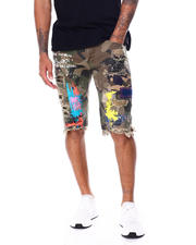 SMOKE RISE - Color Paint Splatter Camo Short-2468285
