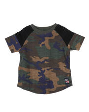 Sizes 2T-4T - Toddler - Raglan Pintuck Camo Crew Neck Tee (2T-4T)-2467118
