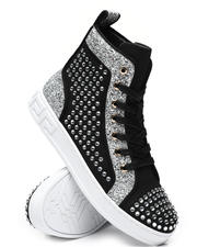 AURELIO GARCIA - Sequin Studded High Top Sneakers-2467242