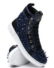 AURELIO GARCIA - Spiked Metallic High Top Sneakers-2467249