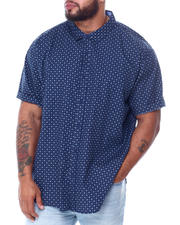 Big & Tall Faves - All Over Dot Print Short Sleeve Woven Shirt (B&T)-2467155