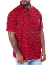 Buyers Picks - All Over Dot Print Short Sleeve Woven Shirt (B&T)-2467219