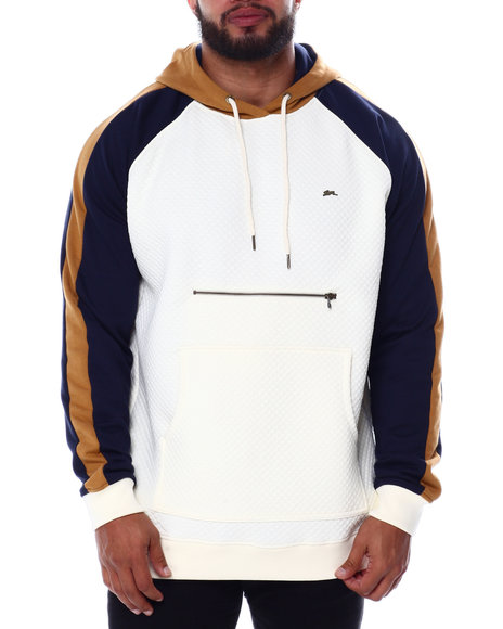 A Tiziano - Trent Long Sleeve Quilted Fleece Pullover Hoodie (B&T)