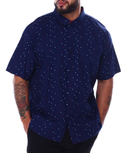 Buyers Picks - All Over Geometric Print Short Sleeve Woven Shirt (B&T)