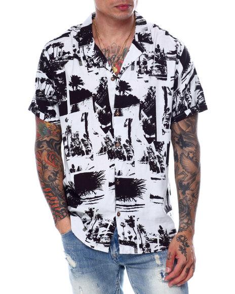 Buyers Picks - Island Print SS Buttondown Shirt