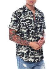 Shirts - Elephant Print Buttondown Shirt-2468685