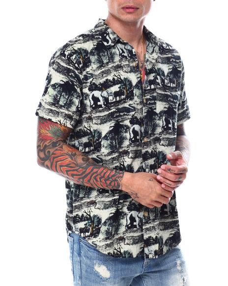 Buyers Picks - Elephant Print Buttondown Shirt