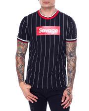 Shirts - Pinstripe Savage Box Logo Tee-2468874