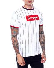 Shirts - Pinstripe Savage Box Logo Tee-2468890