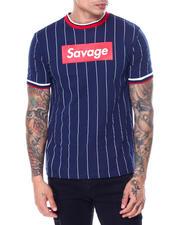 Shirts - Pinstripe Savage Box Logo Tee-2468895