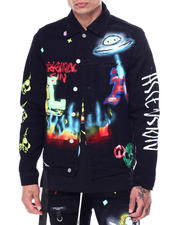 Lifted Anchors - Starlight Airbrush Jacket-2468967