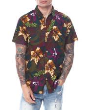 Spring-Summer-M - Forrest Hibiscus Print Buttondown Shirt-2468704