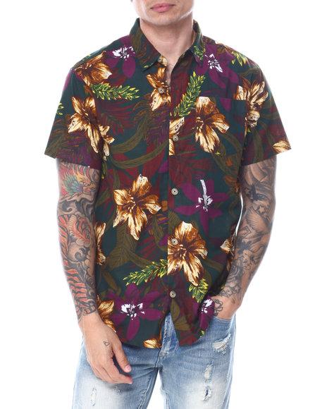 Buyers Picks - Forrest Hibiscus Print Buttondown Shirt