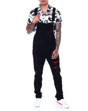 SMOKE RISE - Neon Paint Splatter Overall-2468739