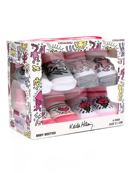Keith Haring - 4 Pack Infant Bootie Socks