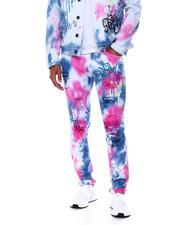 Kloud 9 - Graffiti Tie Dye Jean-2467987