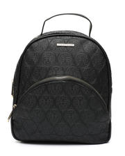 Fashion Lab - Embossed Logo Dome Midi Backpack -2468326