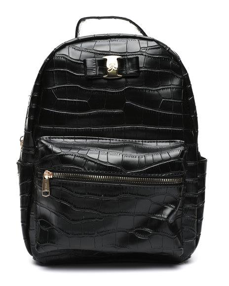 Rampage - Croco Midi Backpack W/ Logo Bow
