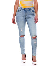 Jeans - RIPPED KNEE HIGH WAIST JEAN-2469301