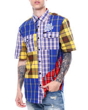 Makobi - RICH AND ROYAL PLAID SS Buttondown SHIRT-2469614