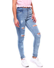 Jeans - DESTRUCTED ROLL CUFF 5 POCKET JEAN-2467824