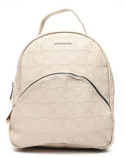 Fashion Lab - Embossed Logo Dome Midi Backpack-2468328