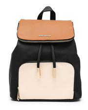 Fashion Lab - Colorblock Midi Flap Backpack-2468331