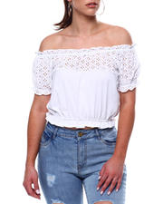 Fashion Tops - Ruffle S/S Ruffle Hem Top-2469462