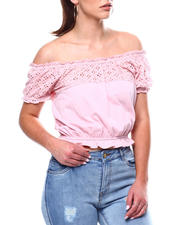 Fashion Tops - Ruffle S/S Ruffle Hem Top-2469486