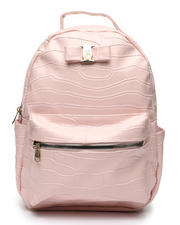 Fashion Lab - Croco Midi Backpack W/ Logo Bow-2468330