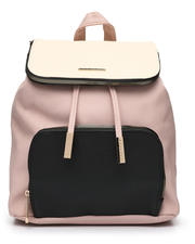 Fashion Lab - Colorblock Midi Flap Backpack-2468332