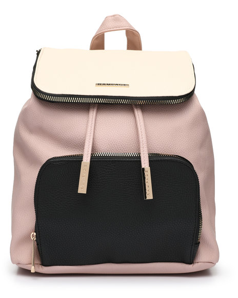 Rampage - Colorblock Midi Flap Backpack