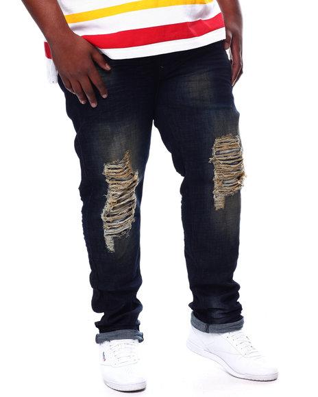 A Tiziano - Randy 5 Pocket Distressed Stretch Denim Jeans (B&T)