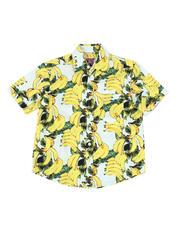 Boys - Banana Print Woven Shirt (8-18)-2469160