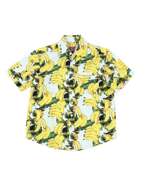 Arcade Styles - Banana Print Woven Shirt (8-18)
