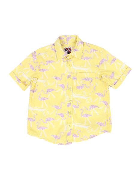 Arcade Styles - Pelican Print Woven Shirt (8-18)