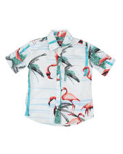 Tops - Flamingo Print Woven Shirt (8-18)-2469170