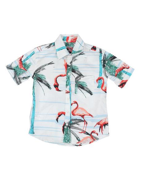 Ben Sherman - Flamingo Print Woven Shirt (8-18)