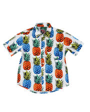 Arcade Styles - Pineapple Print Woven Shirt (8-18)-2469174